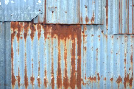 Fondo de pared de zinc antiguo Foto de archivo