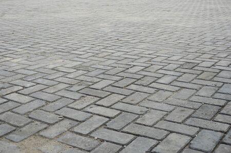 pattern on deep voew the paving block