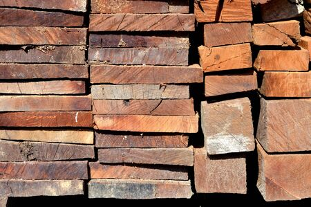 full frame of pattern on stacks of logs background