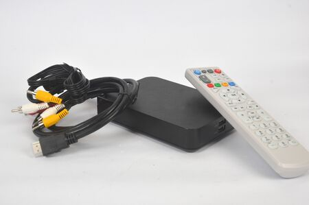 a set of indihome modems on a white screen