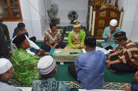 TARAKAN - INDONESIA, 5 APRIL 2018 :The Indonesian wedding ceremony is usually held at the bride's residence or in the mosque Editorial