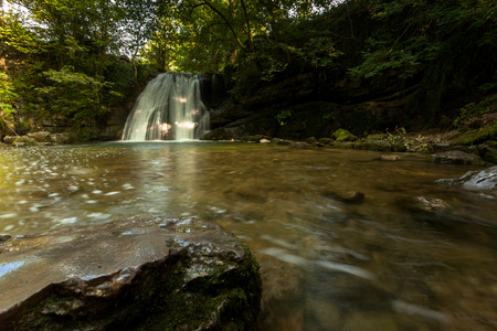dales: Janets Foss water fall, Yorkshire Dales Stock Photo