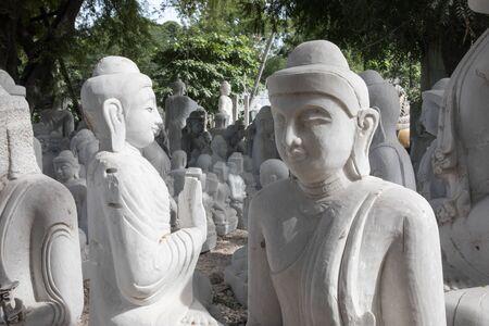 Making Buddha Statue in Mandalay, Myanmar.