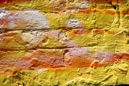 painted wall in shades of yellow