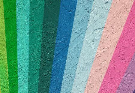 rainbow painted wall