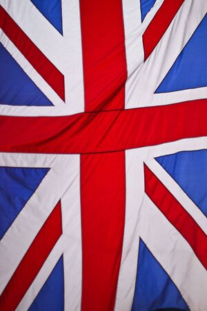 British Union Jack flag rippled in the wind