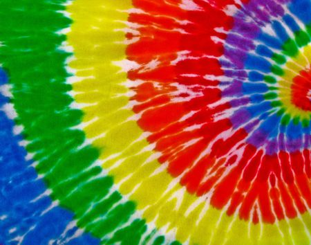 red tie: tie dye pattern on fabric