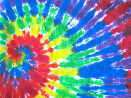 tie dye pattern on fabric Stock Photo - 5876469