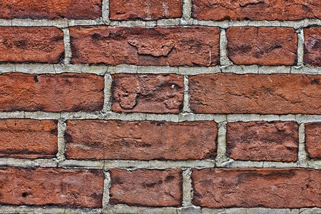 old red brick wall close up  Stock Photo
