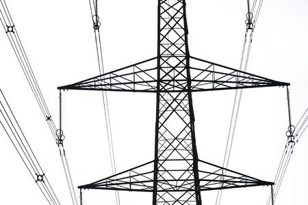 close up of an electricity pylon   Stock Photo