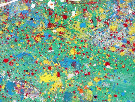 colored paint spatter Stock Photo