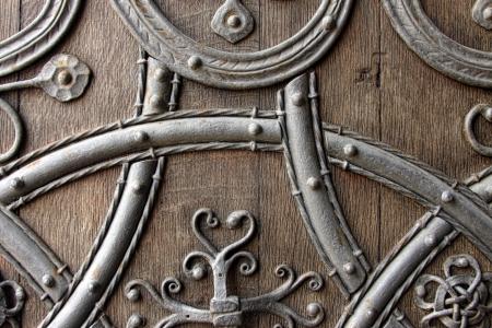 close up of medieval door  Stock Photo