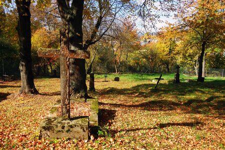 View of cemetery in autumn season Reklamní fotografie