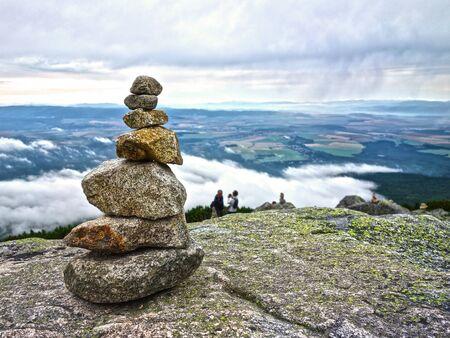 Inukshuk stone men in the High Tatras Zdjęcie Seryjne