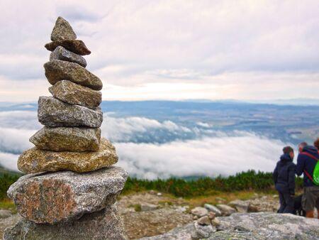 Inukšuk stone men in the High Tatras