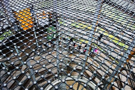 Safe floor net for walking. Attraction for tourists.