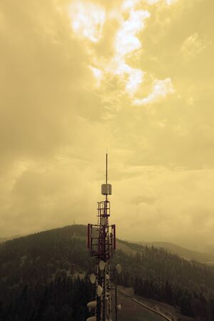 The radio tower in the mountains