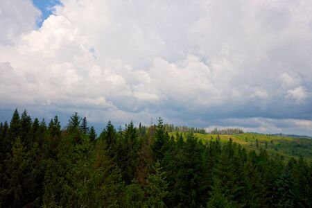 Storm clouds in the mountains Imagens