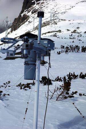 Small hydrometeorological station Stok Fotoğraf