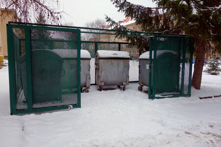 Container in a residential area