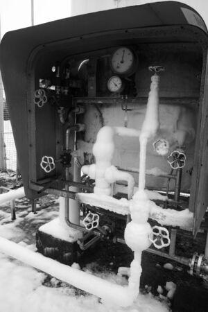 Liquid oxygen, tank, divorce Archivio Fotografico