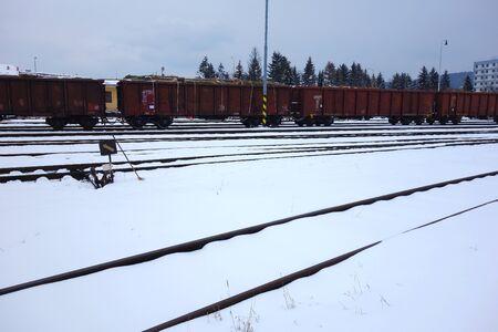 wagons, rail freight Stock fotó