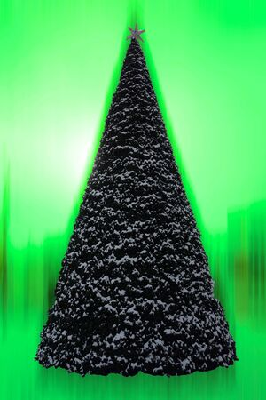 Picture of a Christmas tree with a colorful background