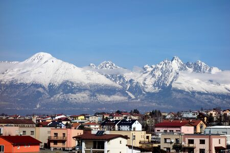 View of the High Tatras from Poprad