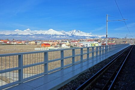 Railway station, direction of High Tatra