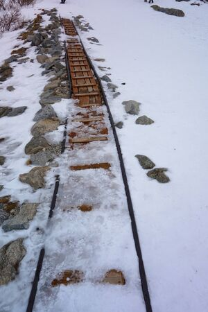 Rails in the mountains Banco de Imagens