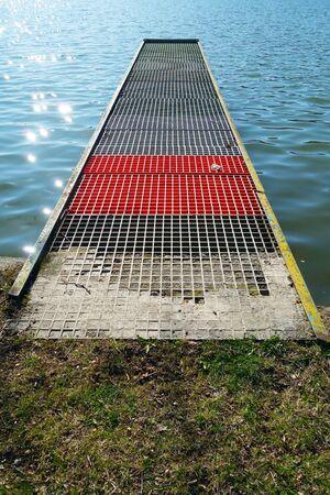 Harbor Bridge on Lake Vinné, Slovakia