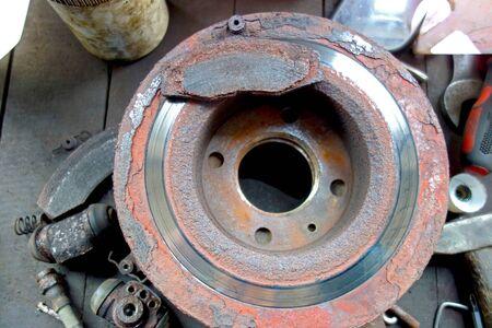 Front brake disc car