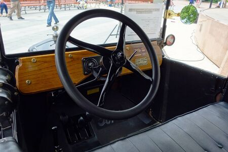 Steering wheel on historic car