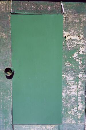 Locked iron door Stockfoto