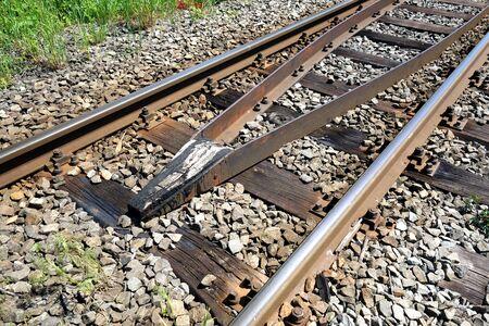Railway tracks for rail transport