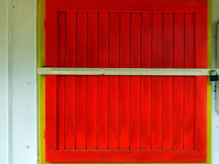 Locked shutter Stockfoto