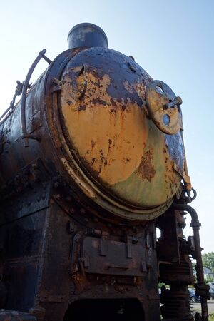 Old locomotive, movie star 写真素材