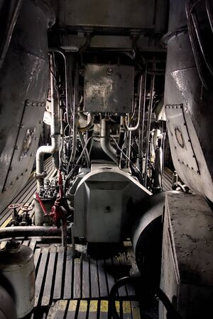 The engine compartment of the train