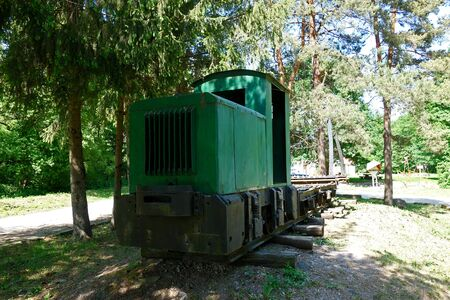 Narrow track, forest train