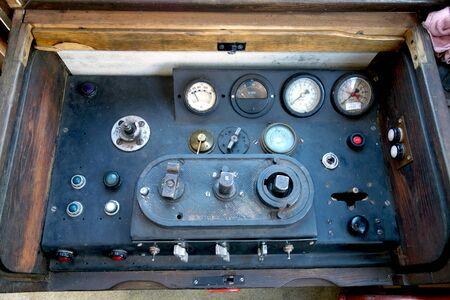 Locomotive control panel, cockpit