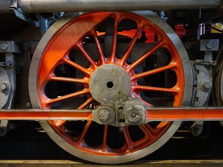 Steam locomotive wheel 写真素材