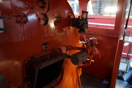 Steam locomotive furnace Banco de Imagens