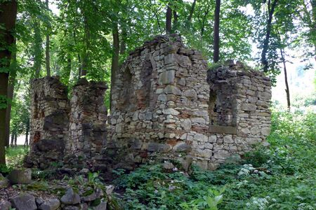 Stone ruins of the small house Stock fotó