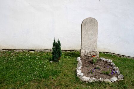 Grave on green grass