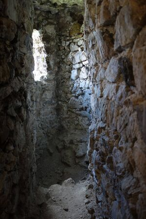 Castle loopholes, Jasenov 写真素材