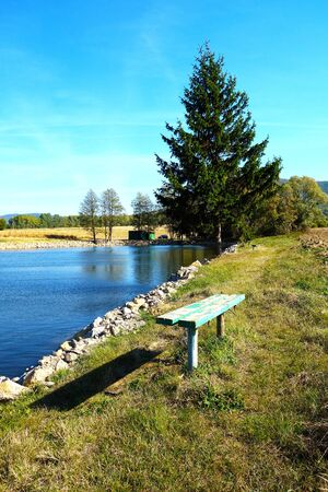 Natural pond in beautiful countryside Stockfoto