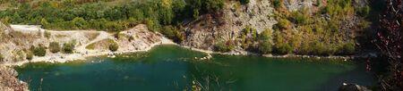 Flooded quarry Beňatina Slovakia