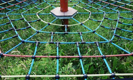 Monkey track on the playground Archivio Fotografico - 134682508