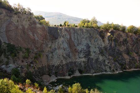 Flooded quarry Beňatina Slovakia Фото со стока