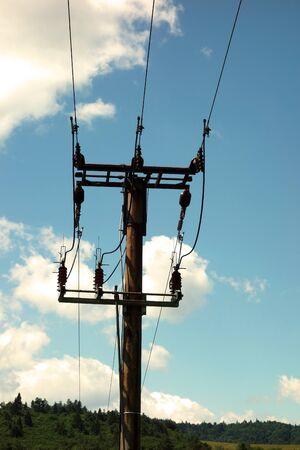 Electricity pylons 写真素材